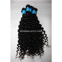 Brazilian Virgin remy Human Hair Weft hair extension curly style