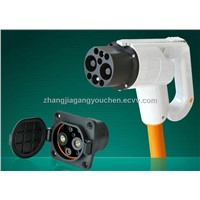 China DC EV fast charger connector