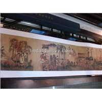 Chinese painting scroll, silk painting