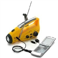 Crank Dynamo Solar Radio with Mobile phone Chargers and Flashlight