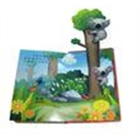 Customizable Colorful 3D Paper Childrens Book Printing with hardcover binding