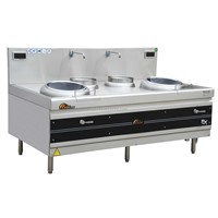 commercial induction cooker Double Burner Frying Wok