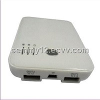 Double USB Univesal Power Bank with 5,000mAh Capacity