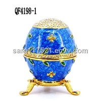 Easter Egg Of Wedding Decoration Metal Jewelry Box ---4198-1