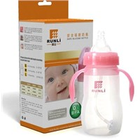 FDA standard glass baby bottle silicone sleeve
