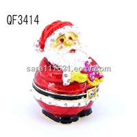 Father Christmas Metal Jewelry Boxes--QF3414