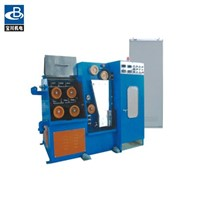 Fine wire drawing machine with continuous annealer