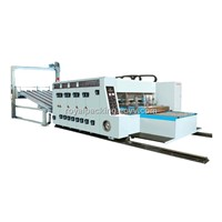 Flexo Printing, Slotting and stacking Machine (Automatic Feed)