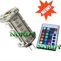 5050SMD 250LM 4W  RGB remote control led G4 light