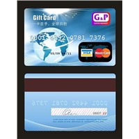 Gift Card with Visa Magnestic Stripe