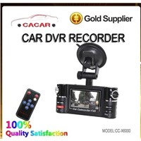 Hot sale HD car dual camera car camcorder with IR night vision
