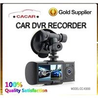 Hot sale HD dual camera car dVR recorder with GPS