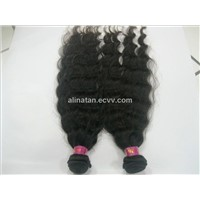 Human hair weft hair extension