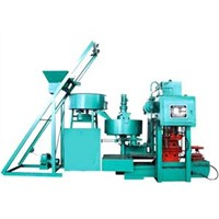 Hydraulic press color tile making machine