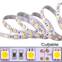 Ideal lighting and decoration flexible led strips SMD5050 30LEDS per meter 7.2W/meter