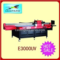 Leopard E3000 T-shirt uv flatbed printer with 1024 printhead