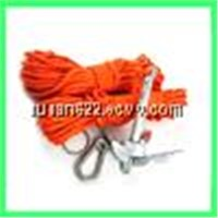 Marine Anchor kit, Nylon Dry Bag, Rope, Rope With Metal Anchor,Stainless Steel Carabineer,And O-ring