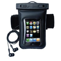 Mobile phone outdoor waterproof bag with belt and earplug
