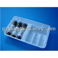 Oral liquid plastic pallet packaging