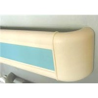 PVC Crash Rail Plastic Hospital Wall Handrail
