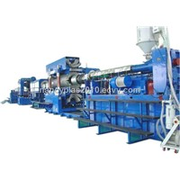 PVC double wall corrugated pipe extrusion machine