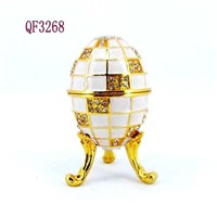 Party Decoration Gift  Easter Egg Metal Jewelry Box QF--3268