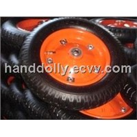 Pneumatic Rubber Wheel With Metal Rim 3.00-8