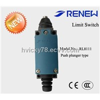 Push plunger type limit switch