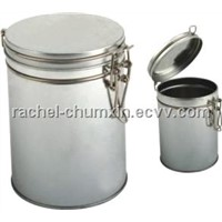 Round Coffee Tin with Iron wire