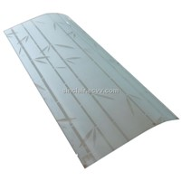 Silk-printed Tempered Glass with CE