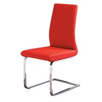 Soft leather Dining Chair with chromed stand, Good quality guarantee $24 /pcs