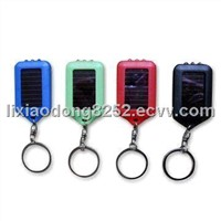 Solar LED Flashlight Keychains