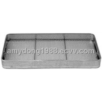 Sterilization stainless steel wire mesh tray and basket