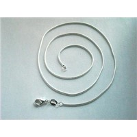Sterling Silver 3mm Round Snake Chain,Round Snake Chain in Sterling 925 Silver 18''