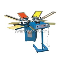 THS SERIES Manual rotary t-shirt printing machine