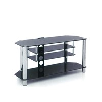 TV Stand made of 8mm tempered glass with chrome plating
