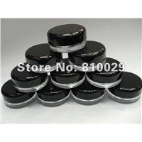 T-03B 3g Black lid empty plastic cosmetic jar Nail art tool