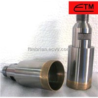 Threaded shank diamond glass core drill bit