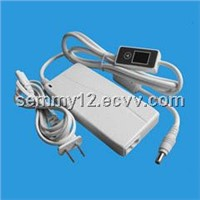 Universal Laptop AC Adapter with LCD Display, Comes in White, Suitable for MP3, Cameras and Mobiles