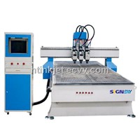 Woodworking CNC Router (Three Spindle)
