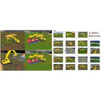 XK-WJJ1 type excavator simulation training equipment