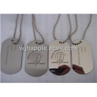 aluminum dog tag, metal dog tag, Pet ID, Military necklace