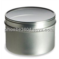 candle tin box with window,candle tin,tin cans with transparent window