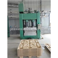 compressed wood pallet making machinel line