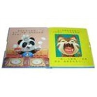 custom Full Color hardcover binding Kids / Childrens Book Printing with Inner draw