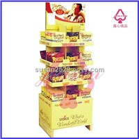 double sided -4 tiers-sales pallet floor display for chocolate