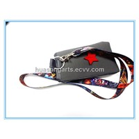 heat transfer print lanyard with cellphone holder
