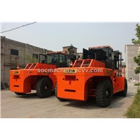 heavy diesel lift truck reach stacker container forklift-25T