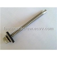 hex washer head self drilling screw with EPDM