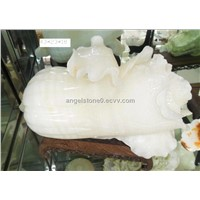 marble carved cabbage, onyx, handicraft